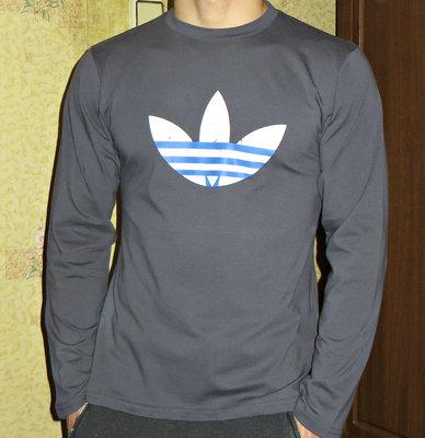 fd4c600d2bb Футболка с длинным рукавом Adidas темно-серая мужская  250 грн ...