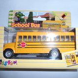 Машинка метал инер-я, школьный автобус, откр.двери, в кор-ке