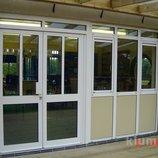 Двери входные алюминиевые и металлопластиковые
