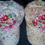 Классные хлопковые кепки на девочек 52-54 р-р