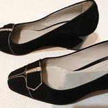 Женские замшевые туфли на танкетке 39р, замш кожа замша