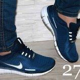 Кроссовки Nike Free Run темно синие в наличии