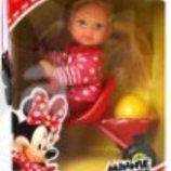 Кукла Еви Минни Мауc прогулка на велосипеде на санках от Simba