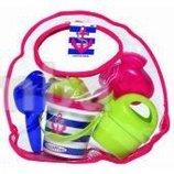Набор для игры с песком Морские мотивы в прозрачной сумочке 6 аксессуаров от Ecoiffier Франция