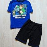 Летняя пижамка для мальчика, можно как летний комплект. Avenue Kids. Размер 7-8 лет