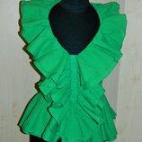 Блуза летняя зеленая с рюшами р. 44-46
