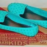 Новые Балетки - лоферы - макасины - туфли бирюза р. 38,5