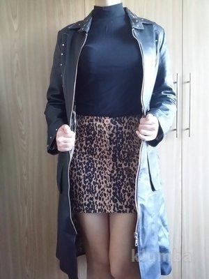 Пальто кожаное, плащ, 44 размер, 173-183 рост, дешево