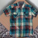 рубашка клетка мужская M L рр очень красивая клетка M Iceman джинс новая