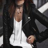 Кожанная куртка косуха franco di marco женская