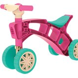 Роллоцикл 4 колеса розовый с бирюзовымТехнок 3824 беговел пластиковый