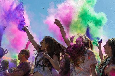 Фарба Холі Гулал , Фіолетова, суха порошкова фарба для фествиалів, флешмобів