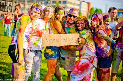 Фарба Холі Гулал , Жовта, суха порошкова фарба для фествиалів, флешмобів