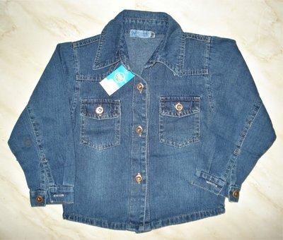 Рубашки джинсовые на мальчика 3-8 лет