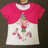 Детская футболка с болеро для девочки Тм Nova, дитяча футболка для дівчинки, топ