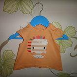 Оранжевая футболка Nutmeg 3-6 мес, 62-68 см