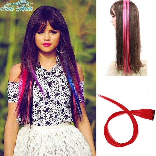 Цветные волосы на трессах купить