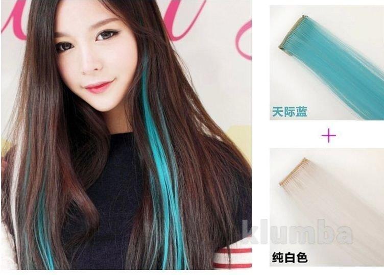 Локоны для волос цветные