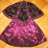 Нарядное-Праздничное платье накидка на 7-8лет
