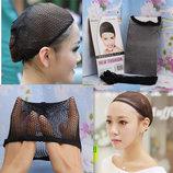 Сетка под парик шапочка-сеточка эластичная для фиксации волос во время сна для париков чёрная купить