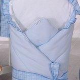 Конверт-Одеяло для детей на выписку Milpol голубой