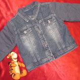 Стильная джинсовая куртка George, 12-18мес