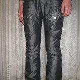 джинсы, брюки Новые Мужские р.30-33 посадка средняя . цвет темно серый.