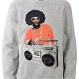 Мужская Новая толстовка - свитшот Bob Marley Боб Марли р 52-54, 100% хлопок. качество отличное