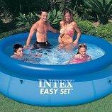 Надувной большой семейный бассейн Intex 56420 Easy Set Pool 366 76 см