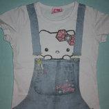 Фирменные разнообразные летние футболки девочке р-110-116