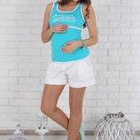 Свободные шорты для беременных, белые