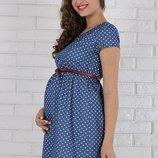 Стильное платье для беременных и кормящих мам, джинс