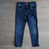 Джинсы штаны 128 см рост тянутся детские синие Girl2Girl герл2герл