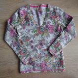 Кофта Теплая Ангора 8-12 лет теплая цветки Princess