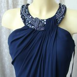Платье женское шикарное вечернее синее в пол макси бренд Mascara р.44-46 6524