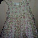 Пышное платье в стиле винтаж, 6-12 мес