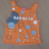 майка блузка 6-7 л футболка оранжевая на море новая Happykid Хеппикид