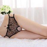 Леопардовые трусики / Эротическое белье / Сексуальное белье / Еротична сексуальна білизна