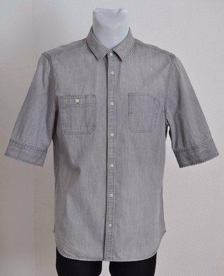 Рубашка как новая джинсовая серая ALLSAINTS 'Origin HS shirt' 52р