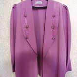 Летний шелковый пиджак-кардиган р.50-52 производство Турция