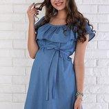Летнее платье для беременных Chic из тонкого джинса.