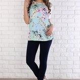 Джинсы-Джеггинсы для беременных Naomi цвет индиго