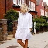 Платье - рубаха лен. Льняное платье, туника пляжная, лен свободный крой