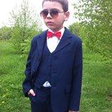 Новая коллекция школьных костюмов для мальчиков синий, серый