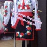 нарядный украинский костюм,вышиванка ,юбка с вышивкой Пошив Под Заказ