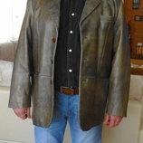 Классический пиджак. Натуральная кожа. 52 размер. Турция.