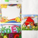 Пазлы и доска для рисования 19х17 маркер ластик детский обучающий набор