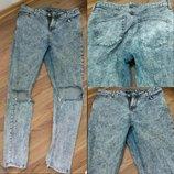джинсы варенки бойфренды рваные UK12