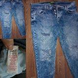 джинсы рваные бойфренды оригинал DENIM,Co UK 14