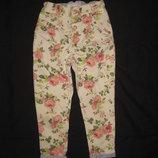 4-7 лет, красивые штаны, Розочки зауженные